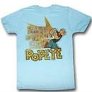 Popeye Shirt Fightin Popeye Adult Heather Blue T-Shirt Tee