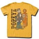 Popeye Shirt Gas Pump Gold T-Shirt