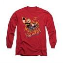 Popeye Shirt Get Air Long Sleeve Red Tee T-Shirt