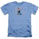 Popeye Shirt Love Icons Adult Heather Light Blue Tee T-Shirt