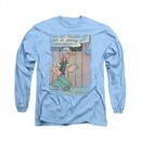 Popeye Shirt Puzzled Long Sleeve Carolina Blue Tee T-Shirt