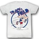 Popeye Shirt Trax Adult White T-Shirt Tee