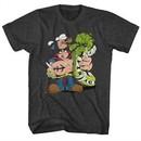 Popeye Shirt Wood Head Charcoal T-Shirt