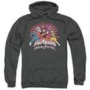 Power Rangers Ninja Steel Hoodie Blast Charcoal Sweatshirt Hoody