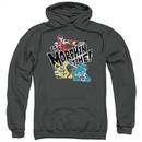 Power Rangers Ninja Steel Hoodie It's Morphin Time Charcoal Sweatshirt Hoody