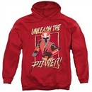 Power Rangers Ninja Steel Hoodie Unleash Red Sweatshirt Hoody