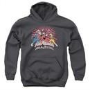 Power Rangers Ninja Steel Kids Hoodie Blast Charcoal Youth Hoody