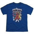 Power Rangers Ninja Steel Kids Shirt Team Royal Blue T-Shirt