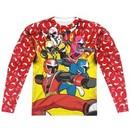 Power Rangers Ninja Steel Long Sleeve GO GO Sublimation Shirt Front/Back Print