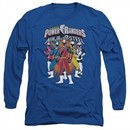 Power Rangers Ninja Steel Long Sleeve Shirt Team Royal Blue Tee T-Shirt