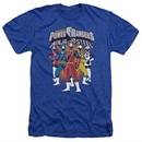 Power Rangers Ninja Steel Shirt Team Heather Royal Blue T-Shirt