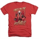 Power Rangers Ninja Steel Shirt Unleash Heather Red T-Shirt