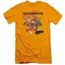 Power Rangers Ninja Steel Slim Fit Shirt Attack Gold T-Shirt