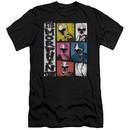 Power Rangers Ninja Steel Slim Fit Shirt Morphin Time Black T-Shirt