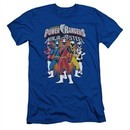 Power Rangers Ninja Steel Slim Fit Shirt Team Royal Blue T-Shirt
