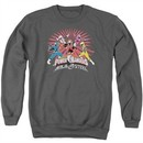 Power Rangers Ninja Steel Sweatshirt Blast Adult Charcoal Sweat Shirt