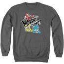 Power Rangers Ninja Steel Sweatshirt It's Morphin Time Adult Charcoal Sweat Shirt