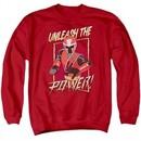 Power Rangers Ninja Steel Sweatshirt Unleash Adult Red Sweat Shirt