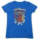 Power Rangers Ninja Steel Womens Shirt Team Royal Blue T-Shirt