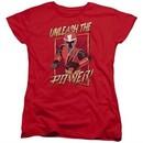 Power Rangers Ninja Steel Womens Shirt Unleash Red T-Shirt