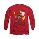 Power Rangers Shirt Go Red Long Sleeve Red Tee T-Shirt