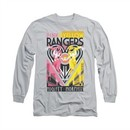 Power Rangers Shirt Pink And Yellow Ranger Long Sleeve Silver Tee T-Shirt