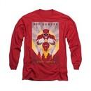 Power Rangers Shirt Red Ranger Long Sleeve Red Tee T-Shirt
