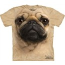 Pug Shirt Face Dog T-shirt Tie Dye Adult Tee