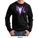 Purple Tuxedo Sweatshirt