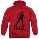 Rai Valiant Comics Hoodie Silhouette Red Sweatshirt Hoody
