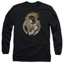Rai Valiant Comics Long Sleeve Shirt Japanese Print Black Tee T-Shirt