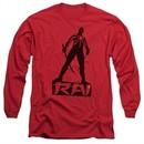 Rai Valiant Comics Long Sleeve Shirt Silhouette Red Tee T-Shirt