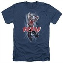 Rai Valiant Comics Shirt Leap And Slice Heather Navy Tee T-Shirt