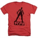Rai Valiant Comics Shirt Silhouette Heather Red Tee T-Shirt