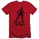 Rai Valiant Comics Slim Fit Shirt Silhouette Red Tee T-Shirt