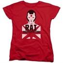 Rai Valiant Comics Womens Shirt Protector Red Tee T-Shirt