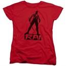 Rai Valiant Comics Womens Shirt Silhouette Red Tee T-Shirt