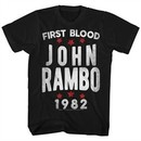 Rambo Shirt First Blood 1982 Black T-Shirt
