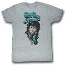 Rambo Shirt Rain On Your Face Adult Heather Gray Tee T-Shirt