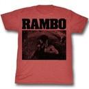 Rambo Shirt Waiting Red Heather T-Shirt