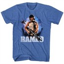 Rambo Shirt Wild Blue Yonder Heather Blue T-Shirt