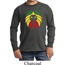 Rasta Lion Head Kids Long Sleeve Shirt
