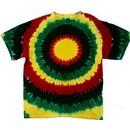 Rasta Sun Tie Dye Tee Shirt
