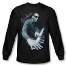 Ray Charles Shirt Blue Piano Long Sleeve Black Tee T-Shirt