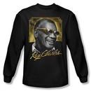 Ray Charles Shirt Golden Glasses Long Sleeve Black Tee T-Shirt
