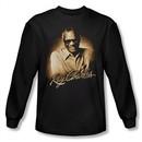 Ray Charles Shirt Sepia Portrait Long Sleeve Black Tee T-Shirt