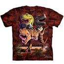 T-Rex Dinosaurs Kids Shirt Tie Dye Collage T-shirt Tee Youth