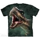 Roaring Rex Dinosaur Shirt Tie Dye Adult T-Shirt Tee