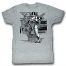 Robocop Shirt Detroit Adult Heather Grey Tee T-Shirt