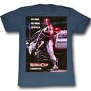 Robocop Shirt El Defensor del Futuro Adult Heather Blue Tee T-Shirt